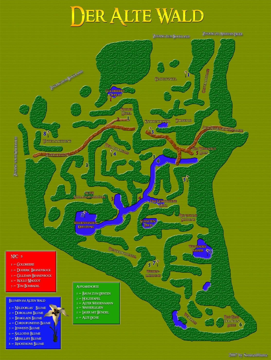 Alter Wald - Karte